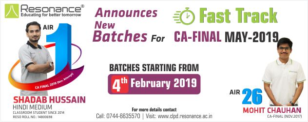 CA Final May 2019 Fast Track